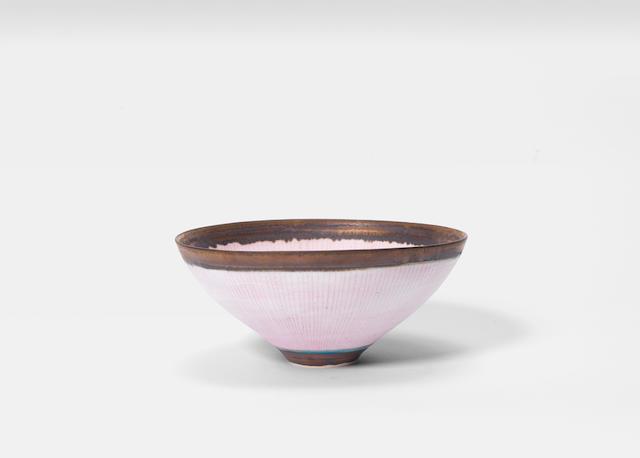 Dame Lucie Rie (British/Austrian 1902-1995) A Footed Bowl, circa 1975