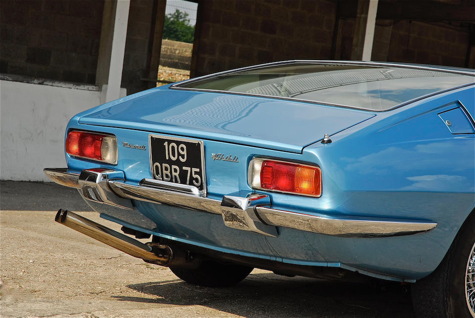 Believed genuine 35,000 kilometres from new ,1971 Maserati Ghibli 4.7 litre coupé  Chassis no. 115.2392