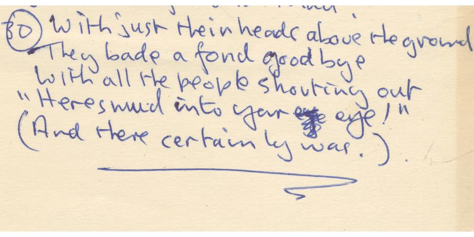 "LENNON (JOHN) Autograph poem, titled ""The Wumberlog (or the Magic Dog)"", [1964/5]"