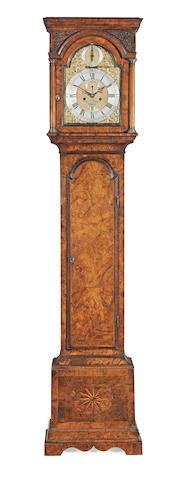 A fine mid 18th century Long case walnut clock J Jaffray, Glasgow 5
