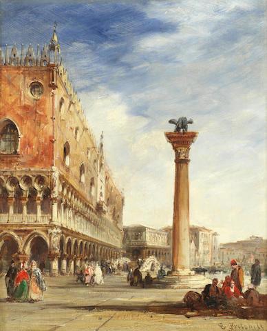 Edward Pritchett (British, 1828-1864) View of the Doge's palace, Venice