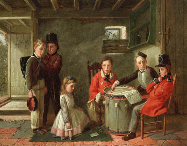 Charles Hunt (British, 1803-1877) The court martial
