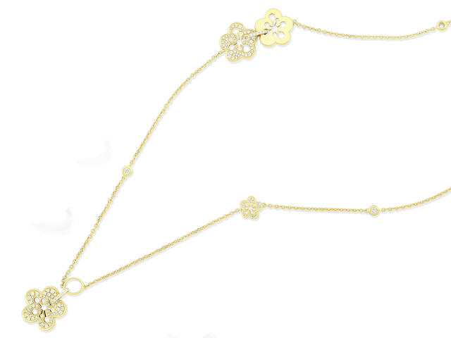 A diamond 'Blossom' necklace, by Boodles