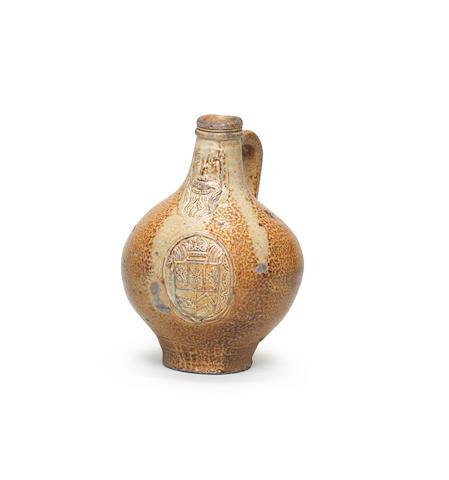 A Cologne/Frechen stoneware bellarmine (Bartmannskrug) First half 17th Century