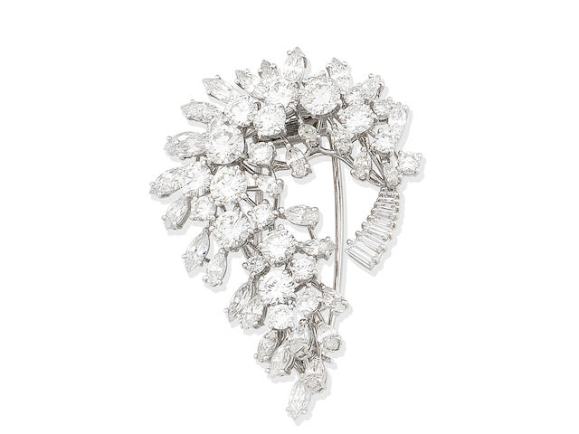 A diamond spray brooch, by Missiaglia