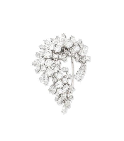 A diamond spray brooch, by Missiaglia