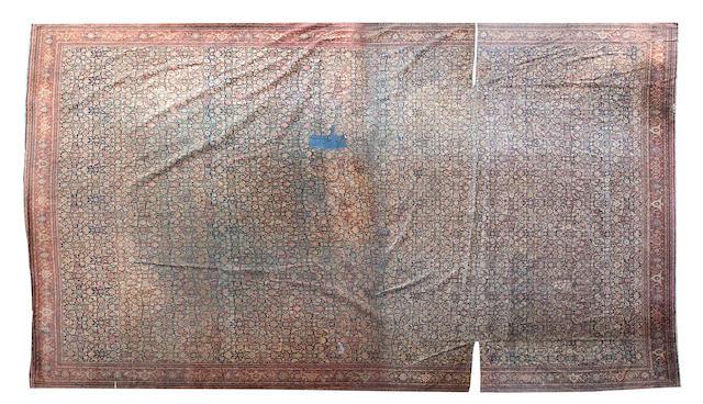 A Large Feraghan carpet West Persia 536 x 830cm