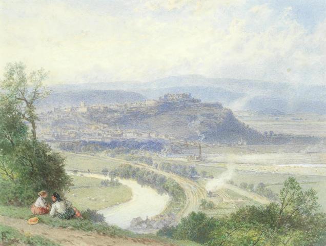 Myles Birket Foster, RWS (British, 1825-1899) Stirling from the Abbey Craig