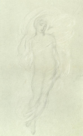 Simeon Solomon (British, 1840-1905) Ethereal figure