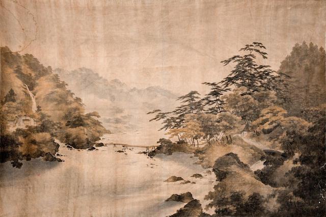 A large cut velvet wall hanging Meiji Era, 19th century