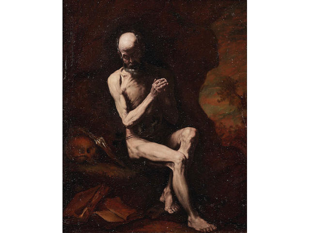 Jusepe de Ribera (Jativa 1588-1656 Naples) Saint Jerome in prayer