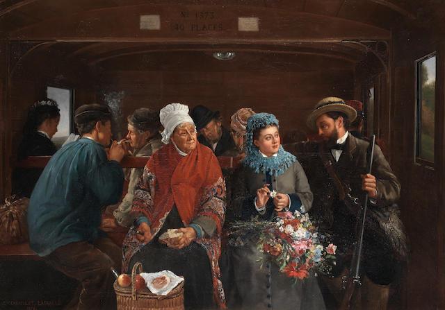 Camille Léopold Cabaillot Lassale (French, 1839-1888) Il m'aime, il ne m'aime pas