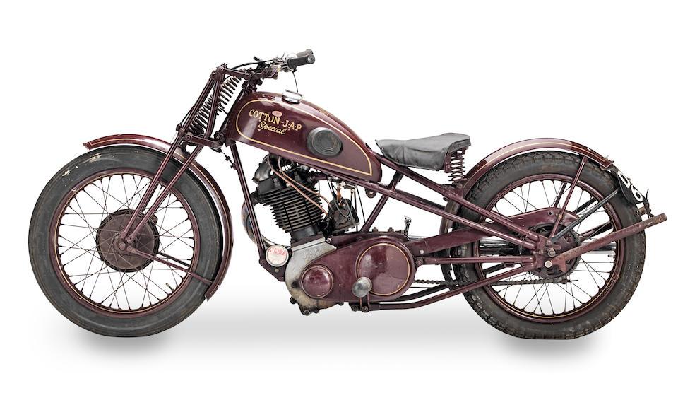 1939 Cotton-JAP 500cc Special  Frame no. None visible Engine no. KOZ/O 64232 SJ