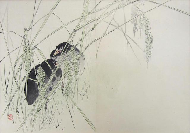 A collection of original and reproduction woodblock prints Kitagawa Utamaro (1753–1806), Utagawa Yoshitora (active 1850–1880), Imao Keinen (1845–1924) and others (20)