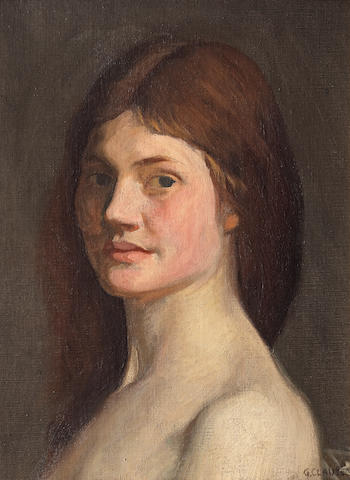Sir George Clausen, RA, RWS (British, 1852-1944) Head of a Young Woman (Dolly Henry)
