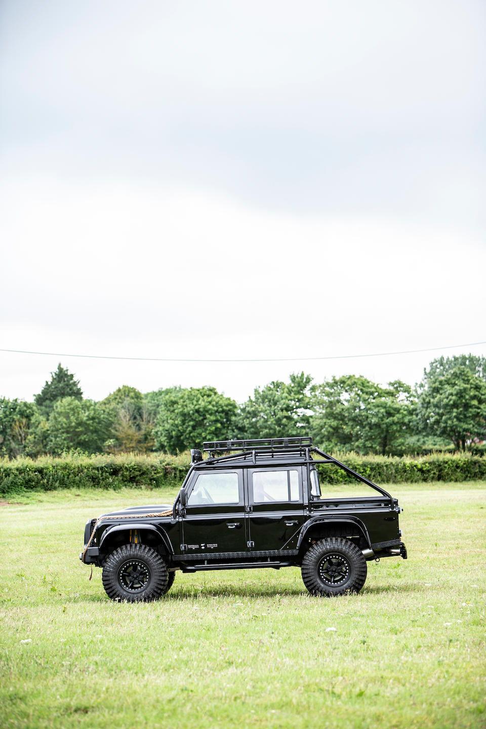 The only Land Rover used in two consecutive James Bond movies; Skyfall and Spectre,2011 Land Rover  Defender SVX 'Spectre' 4x4 Utility  Chassis no. SALLDHFS8AA797848
