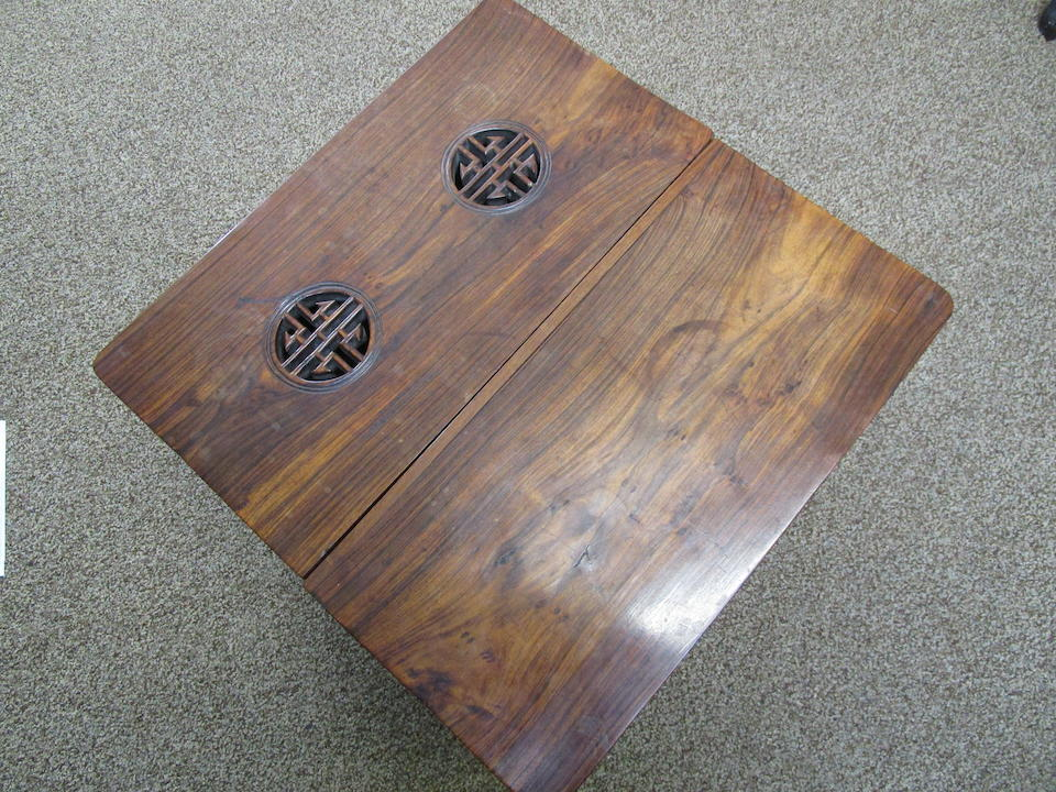A huanghuali wine cooler on stand Qing Dynasty
