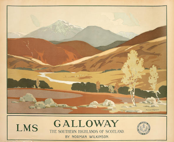 NORMAN WILKINSON (1878-1971) GALLOWAY, LMS