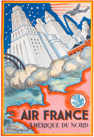 GUY ARNOUX (1890-1951) AIR FRANCE, AMERIQUE DU NORD