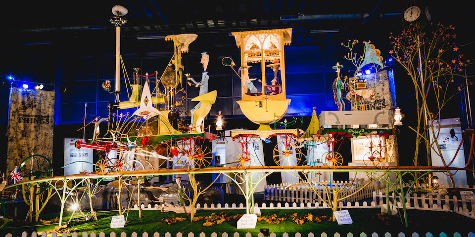 Chitty Chitty Bang Bang Inventor's Masterpiece saved from The Scrap YardExtraordinary Kinetic Sculpture 'A Quiet Afternoon in the Cloud Cuckoo Valley' offered for sale at Bonhams
