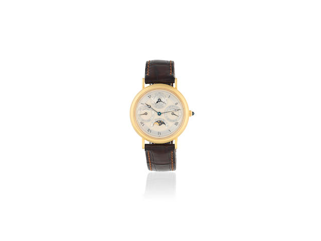 Breguet. A fine 18K gold automatic perpetual calendar wristwatch with moon phase  Classique, Ref: 3050, Circa 1990