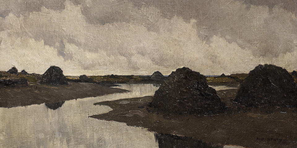 Paul Henry R.H.A. (Irish, 1876-1958) Bog Pool 50.8 x 62.6 cm. (20 x 24 5/8 in.)
