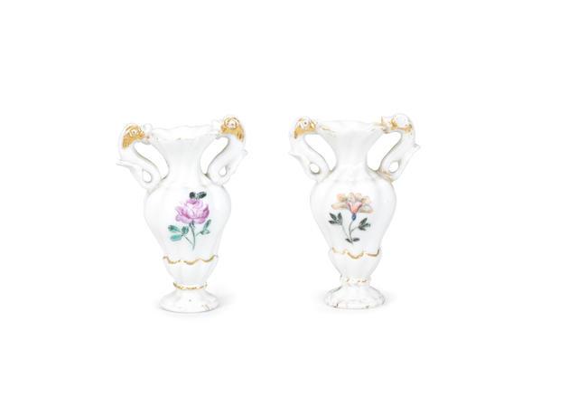 Two Capodimonte miniature vases Circa 1750