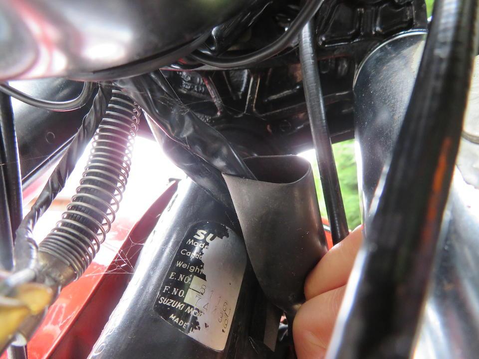 1978 Suzuki GT750 Frame no. GT750-74439 Engine no. GT750-81161