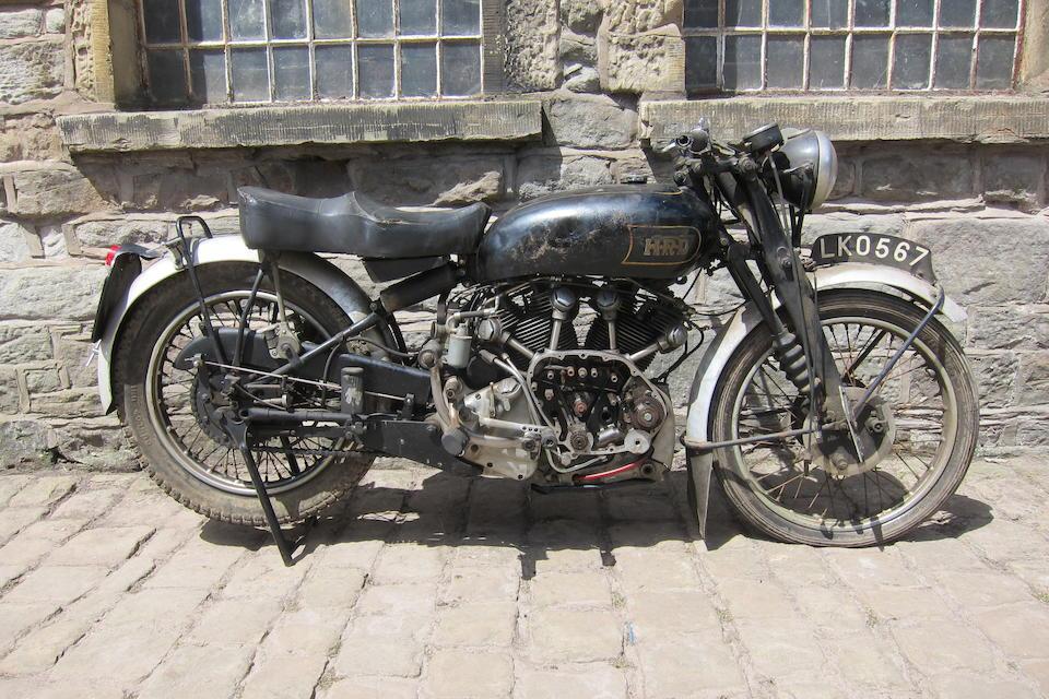 1949 Vincent-HRD 998cc Series-C Rapide Frame no. RC4094 Rear Frame No. RC4094 Engine no. F10AB/1/2194 Crankcase Nos. V73 / V73