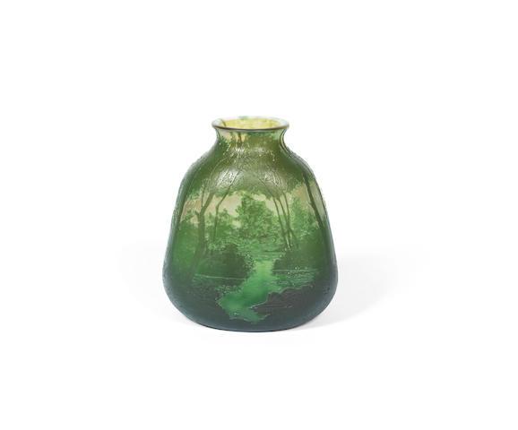 A Cameo Glass Vase by Daum Frères & Cie signed 'DAUM NANCY' with the Cross of Lorraine, circa 1900