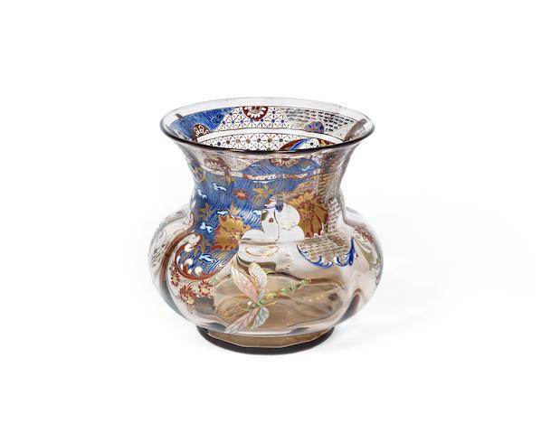 An Glass Vase by Emile Gallé engraved 'E. Gallé/Nancy', circa 1880