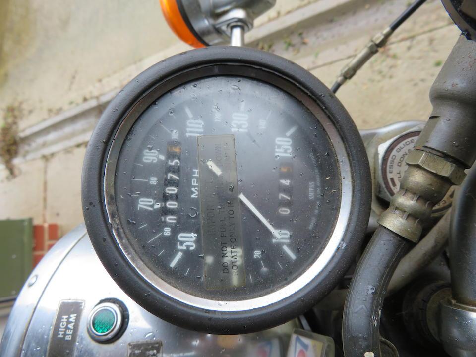 Only 75 miles recorded,1977 Triumph 744cc T140 Silver Jubilee Bonneville Frame no. T140V GP83977J Engine no. T140V GP83977J