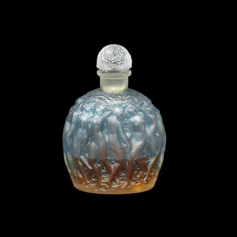 A 'Calendal' Scent Bottle and Stopper for Molinard by René Lalique engraved 'Molinard/Made in France/Lalique', designed 1929