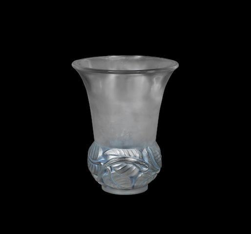 A 'Lilas' Vase by René Lalique wheel-cut 'R.LALIQUE FRANCE', designed 1930