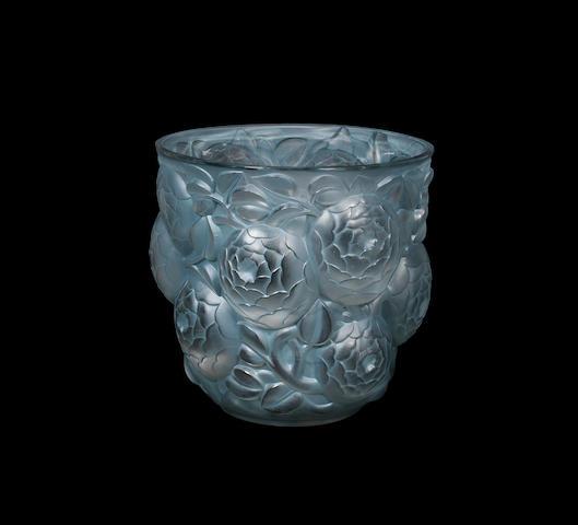 An 'ORAN' Vase by René Lalique wheel-cut 'R.LALIQUE FRANCE, designed 1927