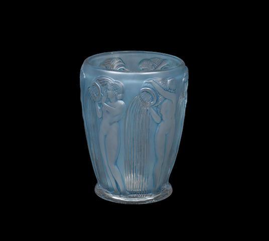 A 'Danaïdes' Vase by René Lalique wheel-cut 'R.LALIQUE FRANCE', designed 1926