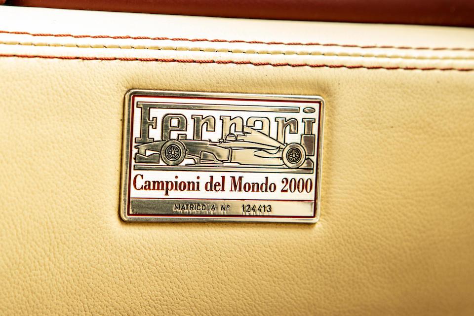 Ex-Sheikh Al Thani,2001  Ferrari  550 Barchetta   Chassis no. ZFFZR52B000124413