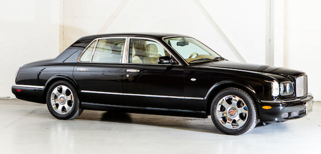 2001  Bentley  Arnage Red Label Sports Saloon  Chassis no. SCBLC31E61CX06442