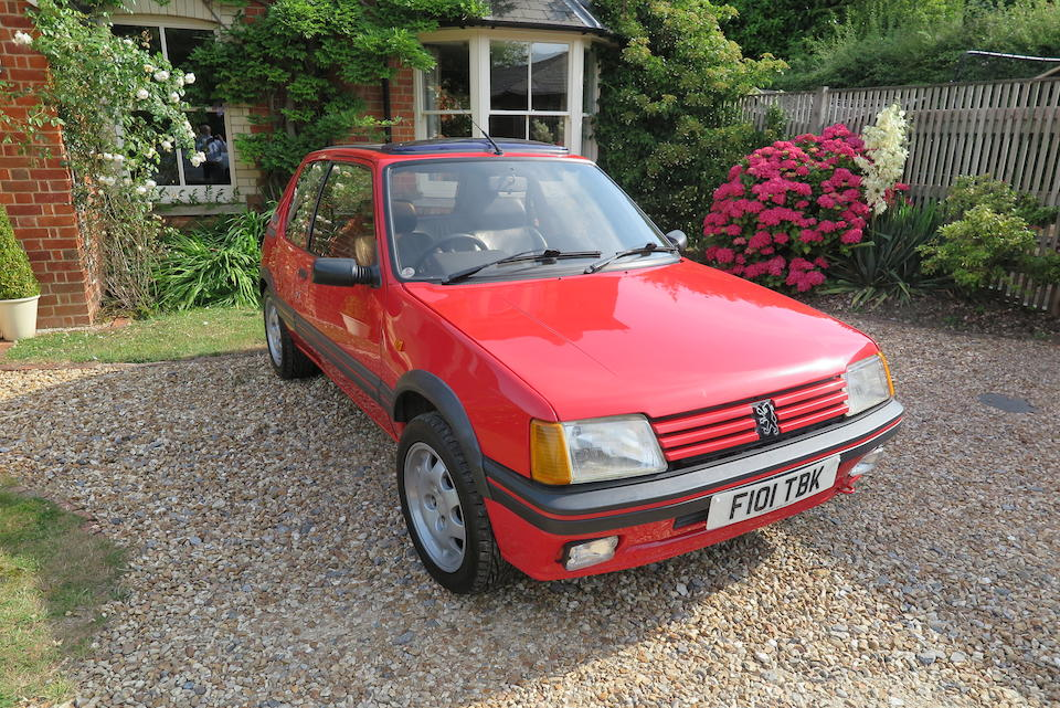 1989 Peugeot 205 GTI 1.9  Chassis no. VF320CD6201958056