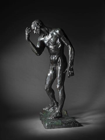 AUGUSTE RODIN (1840-1917) L'un des Bourgeois de Calais: Étude de nu monumentale pour Pierre de Wissant 196.5cm (77 3/8in). high (Conceived in 1886, this bronze version cast in April 1972 by the Georges Rudier Foundry in an edition of 11.)
