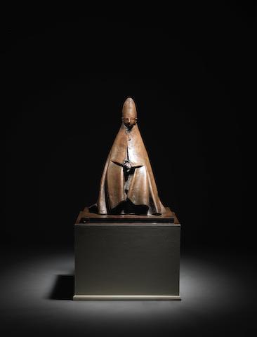 GIACOMO MANZÙ (1908-1991) Cardinale 90cm (35 7/16in). high (Cast circa 1985, this work is unique.)