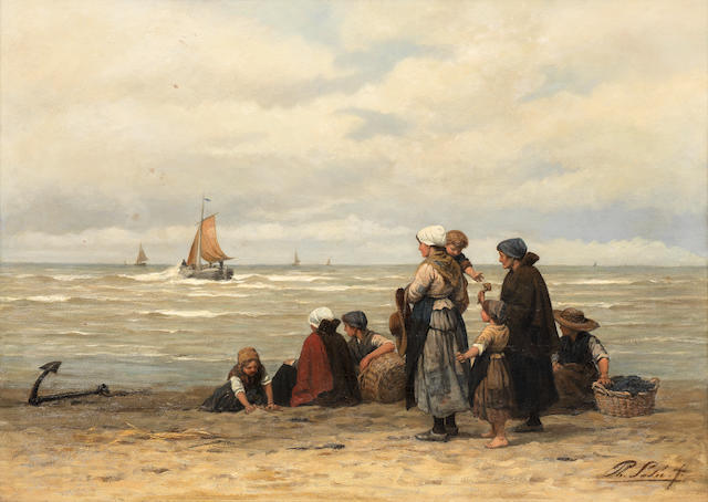 Philip Lodewijk Jacob Frederik Sadée (Dutch, 1837-1904) Waiting for the boats