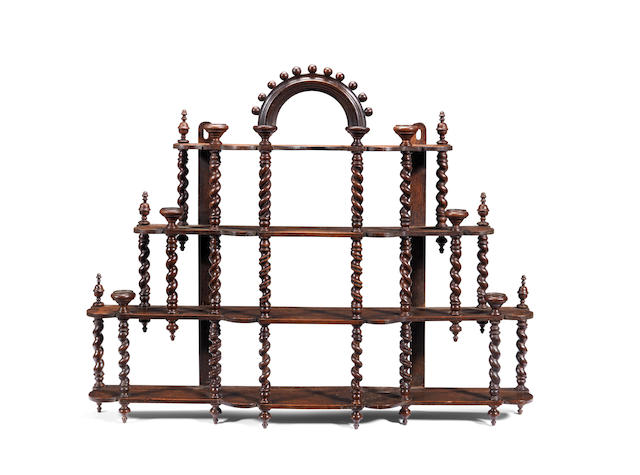 A set of oak mural porcelain shelves, Dutch Possibly early 18th century, circa 1710