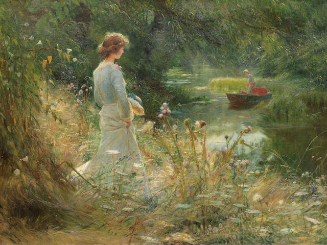 Charles William Wyllie, RBA (British, 1859-1923) The Backwater