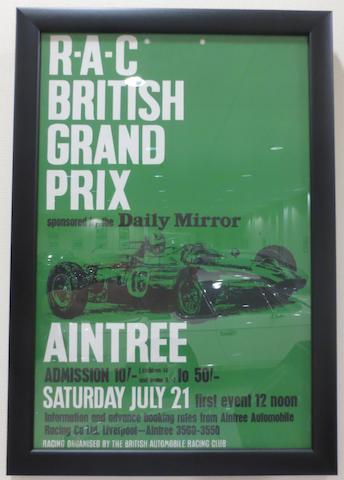 Three 'Aintree 200' motor racing posters,