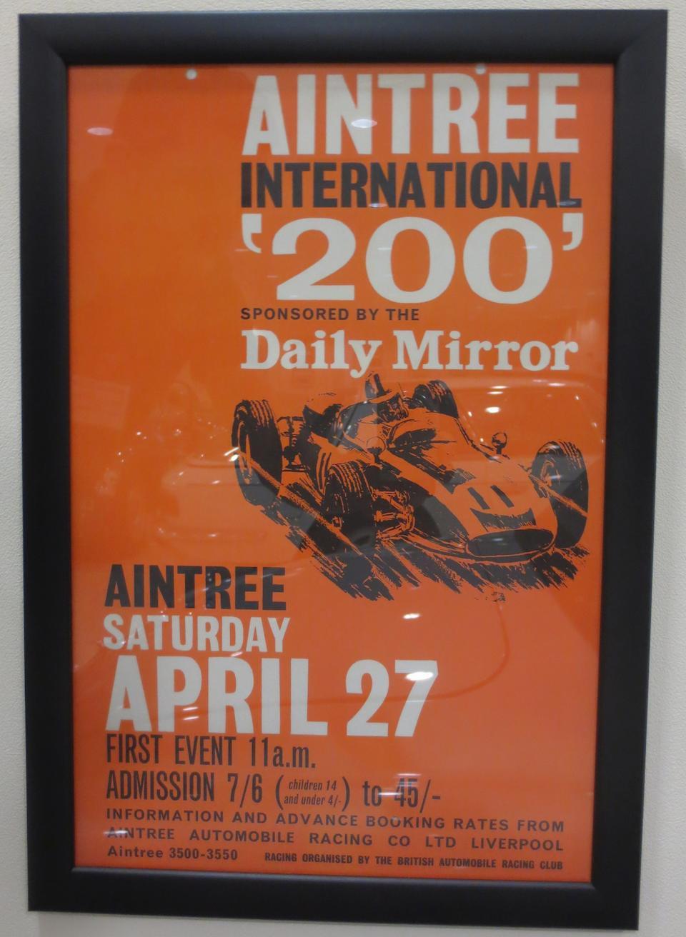 Three 'Aintree 200' motor racing posters,  ((5))