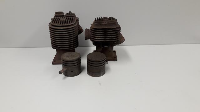 A pair of 6hp JAP cylinder barrels