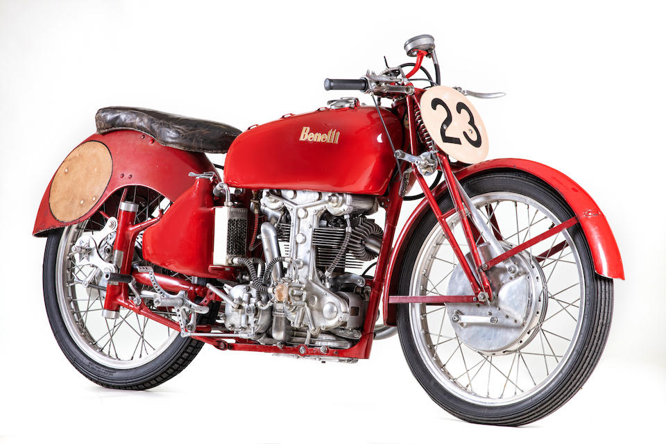 The ex-Dario Ambrosini, World Championship and Isle of Man TT-winning, 1950 Benelli 250cc Grand Prix Racing Motorcycle Frame no. S.S5001