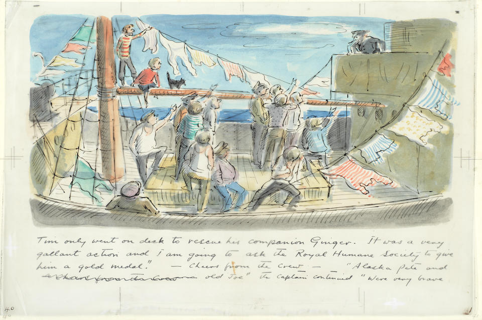 "ARDIZZONE (EDWARD) The complete original artwork for ""Tim to the Rescue"", [c.1949]"