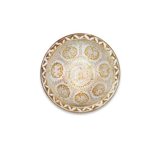 A Kashan lustre pottery bowl